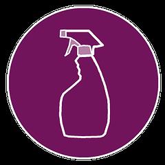 An illustration of a spray bottle.
