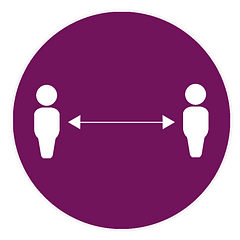 An illustration of two people separated by a double headed arrow.